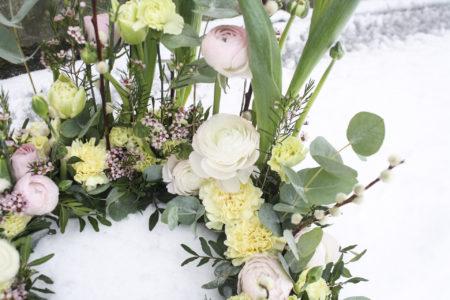 Begravningsbinderier i pastell
