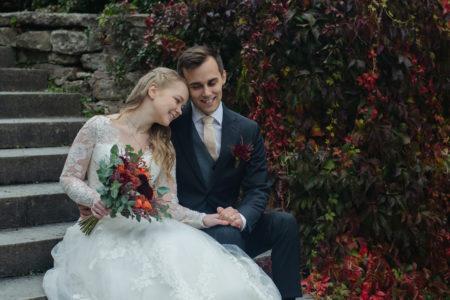 bröllops foto höst
