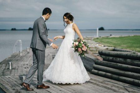 Brud brudbukett bröllop