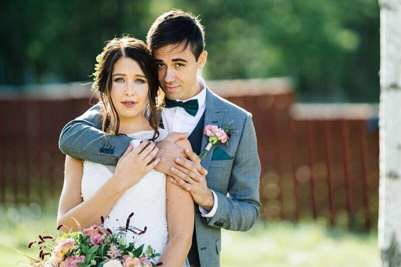 bröllop foto bukett
