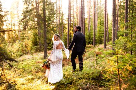 Höstbröllop brudbukett